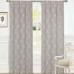 Laura Ashley® Windsor Rod-Pocket 2-Pack Sheer Curtain Panels