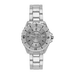 Hampden Womens Silver-Tone Personalized Bracelet Watch