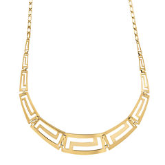 Infinite Gold™ 14K Yellow Gold Graduated Greek Key Necklace