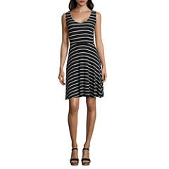 a.n.a® V-Neck Fit-and-Flare Dress