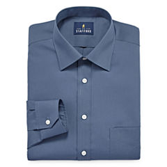 Stafford Travel Easy-Care Broadcloth Long Sleeve Broadcloth Dress Shirt