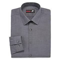 JF J.Ferrar Easy-Care Stretch Long Sleeve Broadcloth Dress Shirt