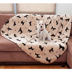 Carolina Pet Co. Plush Embossed Dog Throw
