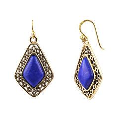 Art Smith by BARSE Genuine Dark Blue Howlite Drop Earrings