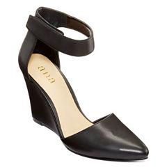 a.n.a® Scarletta Ankle-Strap Wedge Pumps