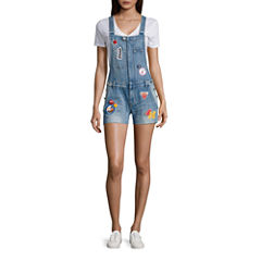 Indigo Rein Patched Shortalls-Juniors