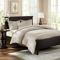Harbor House Linen Reversible 3-pc. Duvet Cover Set