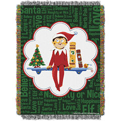 Elf On The Shelf Tapestry Throw