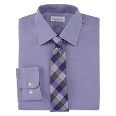 Collections By Michael Strahan Shirt + Tie Set - 8-20