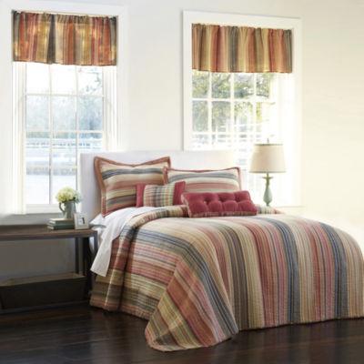 jewel retro chic striped bedspread u0026 accessories - Twin Quilts