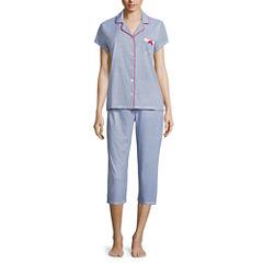 Laura Ashley 2-pc. Paisley Pant Pajama Set