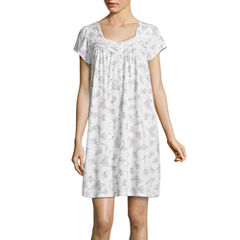 Adonna Jersey Short Sleeve Floral Nightgown