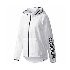 Adidas Hooded Wind Resistant Water Resistant Windbreaker