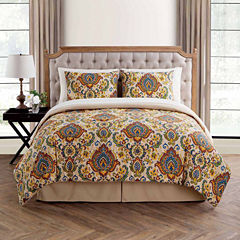 VCNY Pipa Damask Complete Bedding Set with Sheets