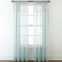 Liz Claiborne® Lisette Macramé Sheer Tab-Top Curtain Panel