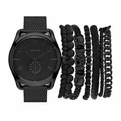 Rocawear Mens Black 8-pc. Watch Boxed Set-Rmst5350b328-362