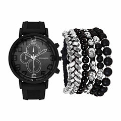 Rocawear Mens Black 7-pc. Watch Boxed Set-Rmst5354b328-362