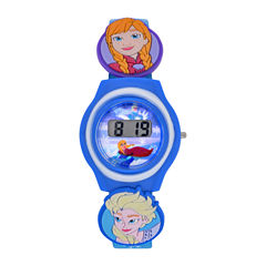 Disney Frozen Girls Blue Strap Watch-Fzn3900jc