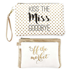 Ambrielle Bridal 3-pc. Makeup Bag
