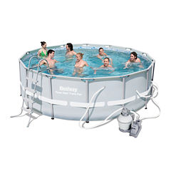 Bestway Power Steel Frame Pool Set 14 Feet x 48 Inches
