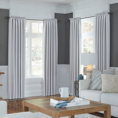JCPenney Home Made-To-Length Velvet Rod-Pocket Blackout Lined Curtain Panel