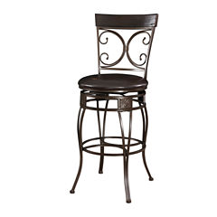Big and Tall Back to Back Scroll Bar Stool
