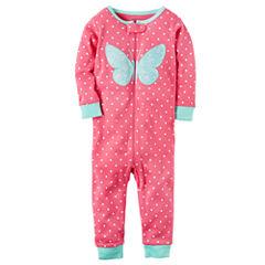 Carter's 1pc Slp Long Sleeve One Piece Pajama-Baby Girls