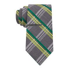 JF J. Ferrar® Neon Pop Plaid Tie - Extra Long