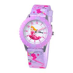 Disney Time Teacher Aurora Purple Strap Watch