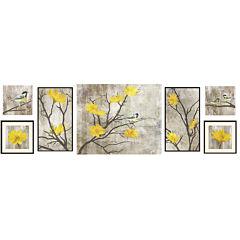 Yellow Botanical 7-pc. Wall Decor Set