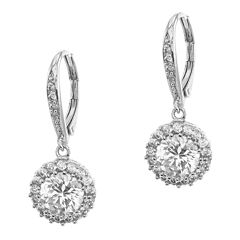 CZ by Kenneth Jay Lane Brilliant Dangle Earrings