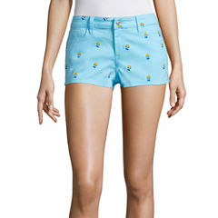 Sound Girl French Fry Print Shortie Shorts Juniors