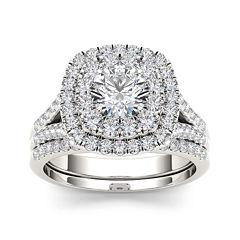 2 CT. T.W. Diamond 14K White Gold Bridal Set