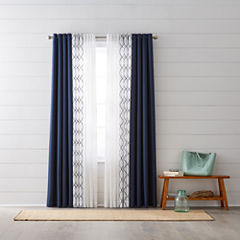 JCPenney Home Quinn & Bayview Sheer Grommet-Top Curtain Panels