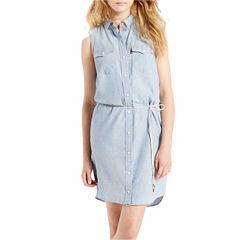 Levi's® Sleeveless Shirt Dress
