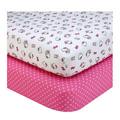 NoJo® Sanrio Hello Kitty 2-pk. Crib Sheet