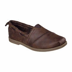 Skechers Bobs Chill Luxe Buttoned Up Womens Slip-On Shoes