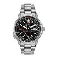 Citizen® Eco-Drive® Nighthawk Flight Mens Stainless Steel Watch  BJ7000-52E
