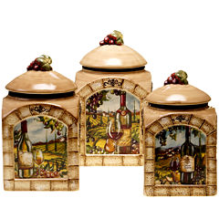 Certified International Tuscan View 3-pc. Canister Set
