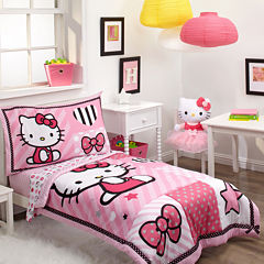 NoJo® Sanrio Hello Kitty Sweet Heart 4-pc. Toddler Bedding Set