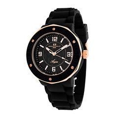 Oceanaut Acqua Womens Black Rubber Bracelet Watch