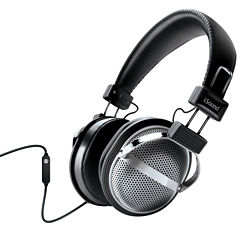 iSound DGHP-5526 HM-270 Stainless Steel Stereo Headphones with Inline Microphone & Volume Control