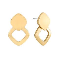 Liz Claiborne® Gold-Tone Doorknocker Earrings