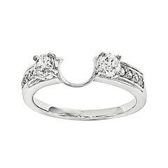 5/8 CT. T.W. Diamond 14K White Gold Ring Wrap