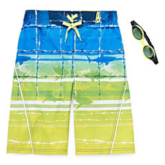 Zero Xposur Boys Barbed Wire Swim Trunks-Big Kid