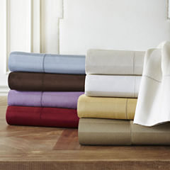 Royal Velvet® 500tc Wrinkle-Free Damask Stripe Sheet Sets and Pillowcases