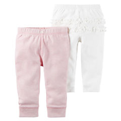 Carter's Little Baby Basics Girl 2-Pack Pants