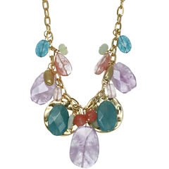 ROX by Alexa Pink & Green Gemstone Disc Necklace