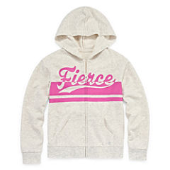 Xersion Cotton Fleece Graphic Hoodie - Girls' 7-16 and Plus