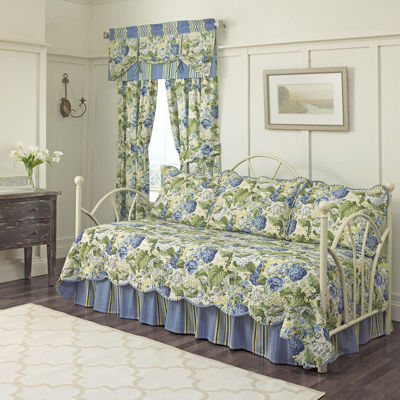 waverly floral flourish reversible 5pc daybed cover set